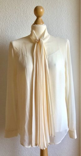 Michael Kors Tie-neck Blouse natural white-cream polyester