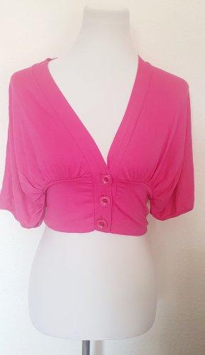 Oberteil kurze Shirt Jacke pink Gr 38