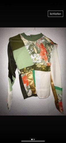 Oberteil/ Langarm/ bunten/ Muster/ Blumen/ durchsichtig