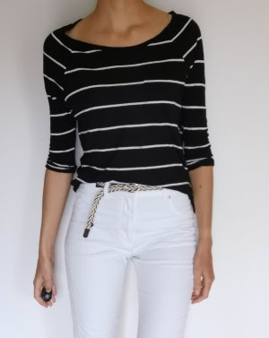 H&M Camicetta lunga bianco-nero