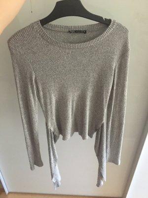 Zara Camisa larga gris