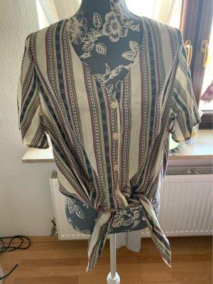 C&A Yessica Camisa de manga corta blanco-azul oscuro
