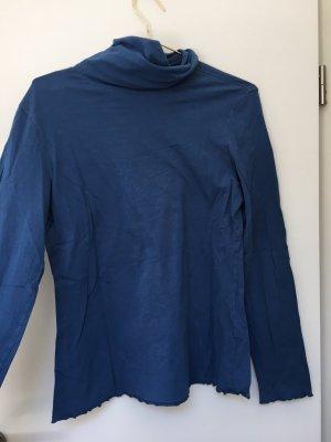 Maas Koszulka z golfem chabrowy-stalowy niebieski