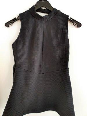 H&M Basic Top z odkrytymi plecami czarny