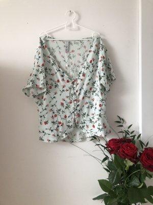 Amisu Camicia fantasia verde-grigio-rosso