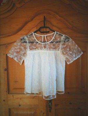 Miss Selfridge Lace Top white
