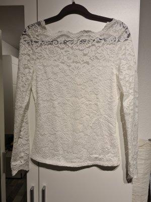 Villa Koronkowa bluzka biały