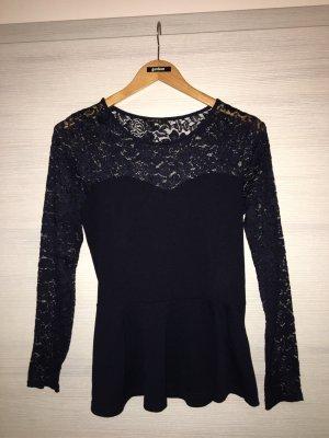 Amisu Crochet Shirt dark blue