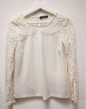 Vero Moda Koronkowy top biały