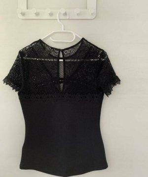H&M Top maillé noir