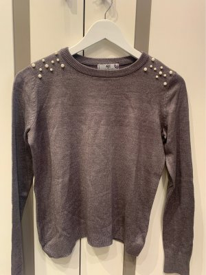 AJC Fine Knit Jumper light grey-grey
