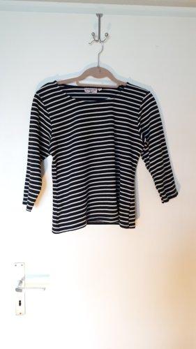 Top Vintage Boatneck Shirt white-black