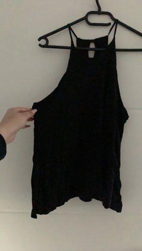 H&M Top z dekoltem typu halter czarny