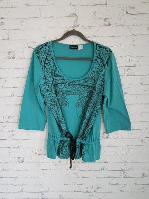 Shirt Tunic brown-turquoise