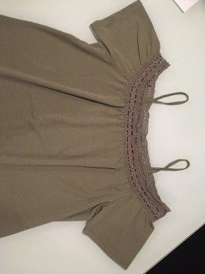 Oversized shirt donkergroen