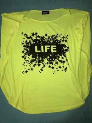 Oberteil - Shirt - Neon - Sterne - Größe 42
