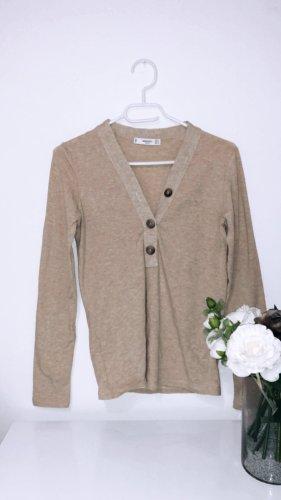 Oberteil shirt pulli sweater sweatshirt pullover top beige mango braun knit strick