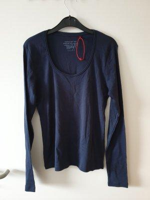 Oberteil Shirt Top langärmelig blau Gr. S Esprit neuwertig!