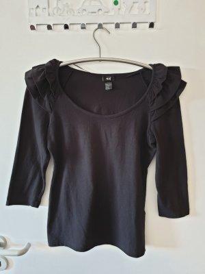 Oberteil Shirt Top schwarz H&M Gr. M neuwertig