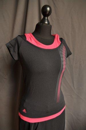 Adidas Koszulka sportowa Wielokolorowy Tkanina z mieszanych włókien
