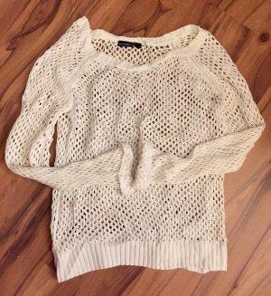 Esmara Top en maille crochet blanc