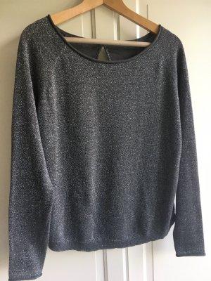 Oberteil / Sommer Pullover Grau Glitzer