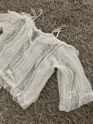 Top cut-out bianco sporco