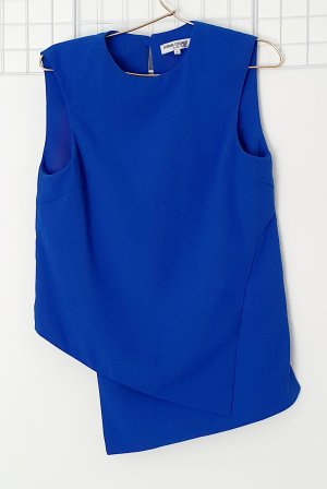 Opening Ceremony Top long bleu polyester