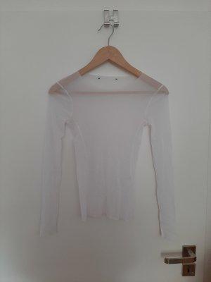Siateczkowa koszulka biały
