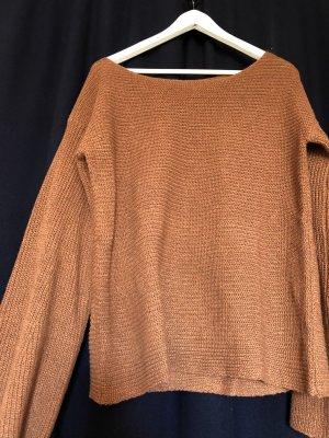 Batik shirt cognac-bruin