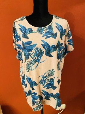 Adria Fashion Długi top niebieski-stary róż