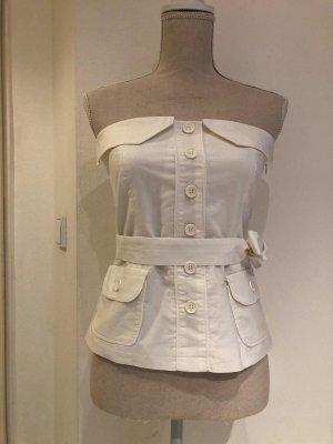 Bandolera Off-The-Shoulder Top white cotton