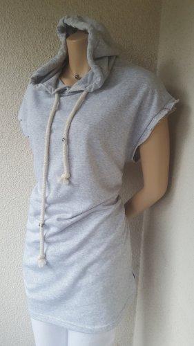 Bershka Top à capuche gris clair