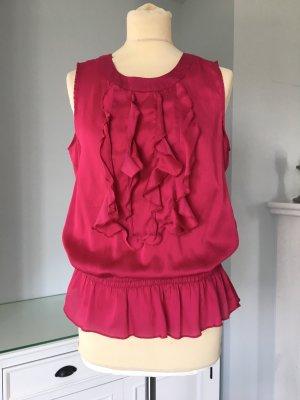 Etam Frill Top raspberry-red-magenta