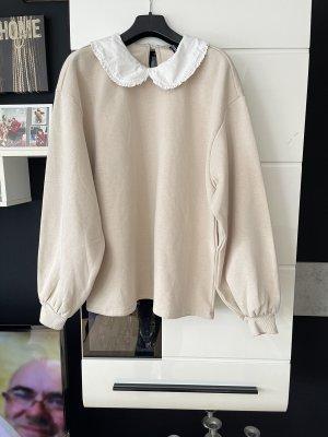 H&M Blusa de cuello alto beige claro