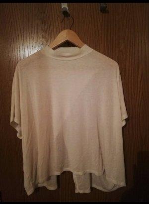 Monki Ribbed Shirt cream