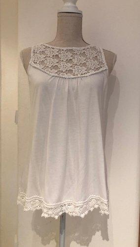 Summum Crochet Top white cotton