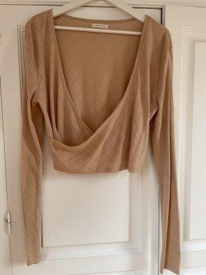 Urban Outfitters Wraparound Shirt beige
