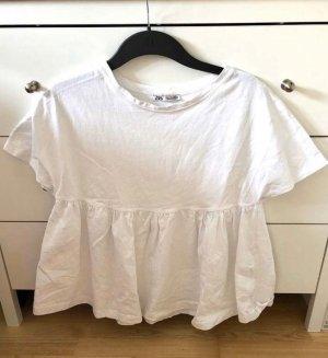Zara Top basic bianco