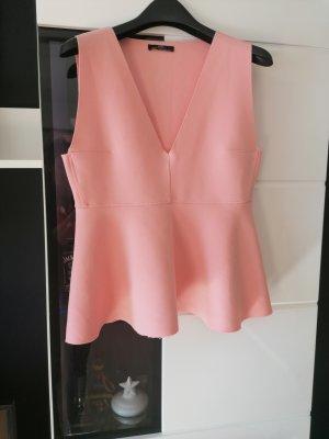 Oberteil von Zara, Bluse, Rose Größe M
