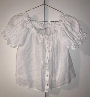 Zara Off-The-Shoulder Top white-natural white