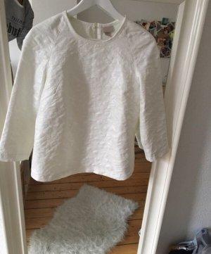 H&M Blusa brillante bianco-bianco sporco