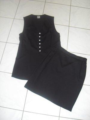 Costume business noir viscose
