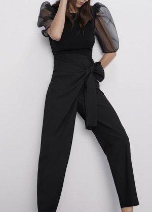 Zara Top con balze nero