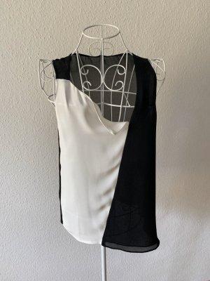 Oberteil ZARA, schwarz weiß, mit Häkchen flexibel tragbar