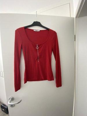 Nakd Long Shirt beige-dark red