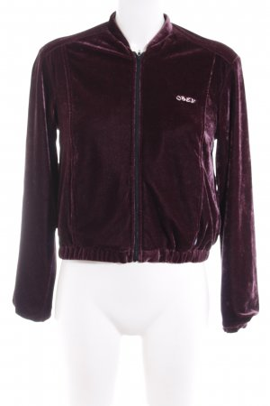 obey Blouson purple embroidered lettering casual look