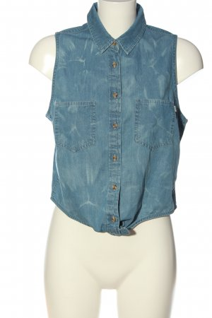 obey Blouse Top blue casual look
