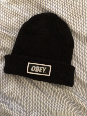 obey Beanie black-white