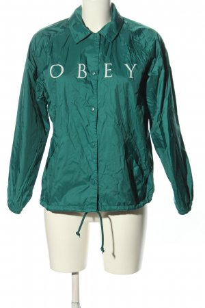 obey Outdoor Jacket turquoise-natural white casual look